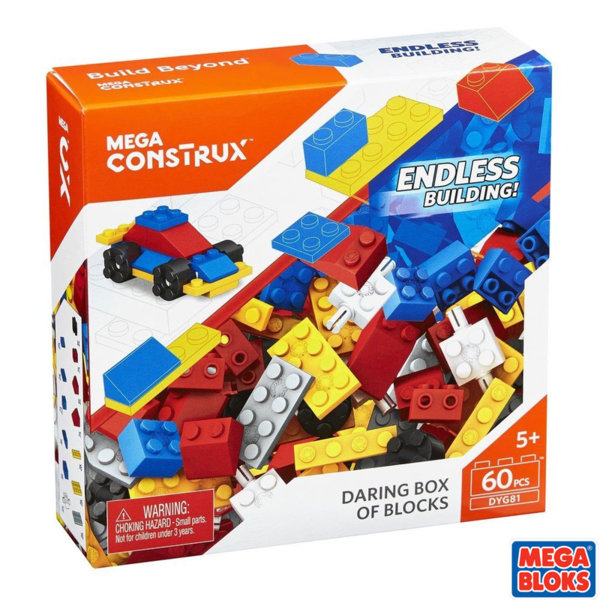 Mega Bloks - Строителни блокчета 60 части DYG80