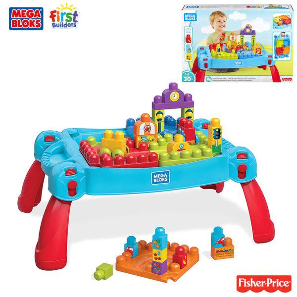 Fisher Price Mega bloks - Детска маса със строителни блокчета FGV05