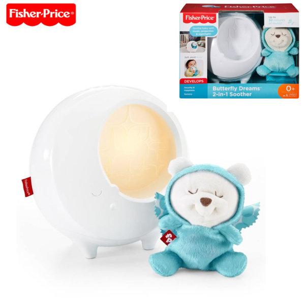 Fisher Price - Музикална лампа прожектор с плюшено мече DYW48