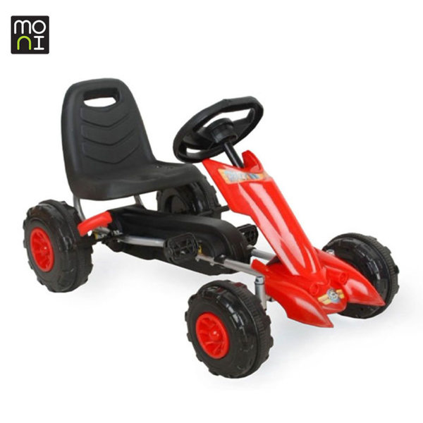Moni - Детска картинг кола с педали Flash 628 червена 103696