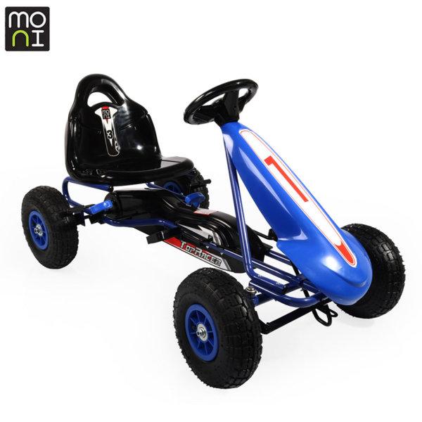 Moni - Детска картинг кола с педали Top Racer Air 815 синя 103692