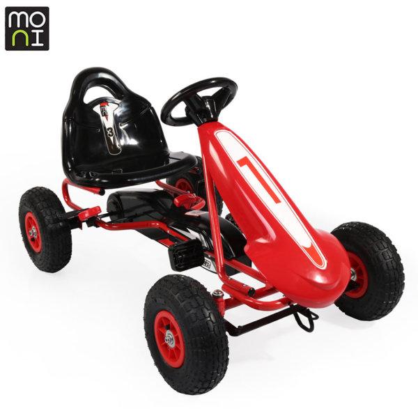 Moni - Детска картинг кола с педали Top Racer Air 815 червена 103693