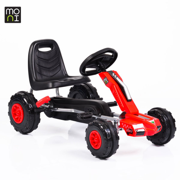 Moni - Детска картинг кола с педали Bolt 648 червена 103703