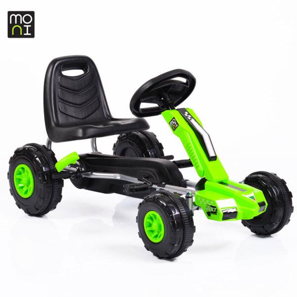 Moni - Детска картинг кола с педали Bolt 648 зелена 103702