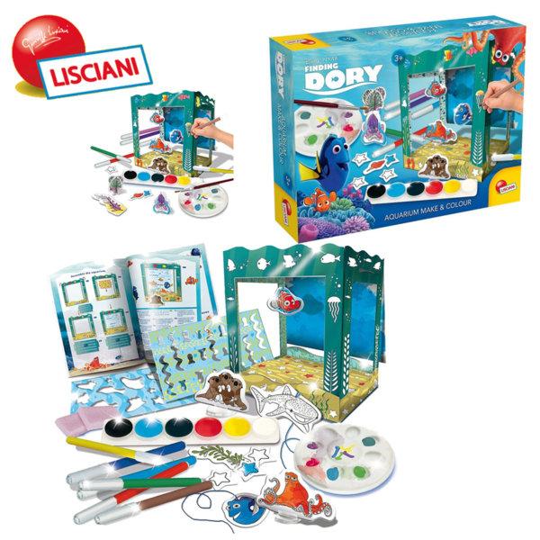 Lisciani Giochi Disney - Детски комплект DORY Аквариум Направи и оцвети 55296