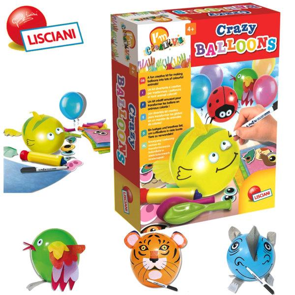 Lisciani Giochi - Детски творчески комплект с Crazy балони 47697