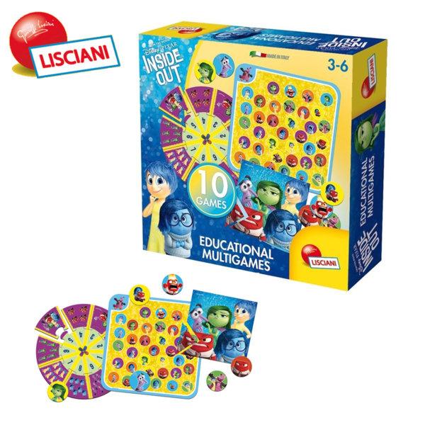 Lisciani Giochi Disney - Детски комплект с 10 образователни игри Отвътре навън 55449