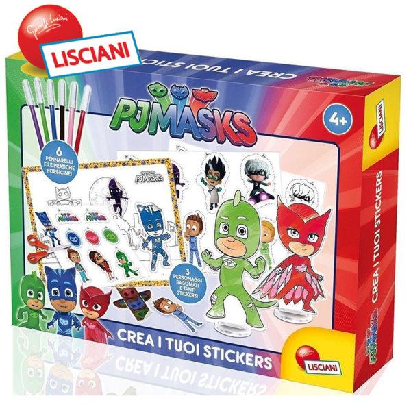 Lisciani Giochi - Комплект за оцветяване и стикери PJ Masks 63000