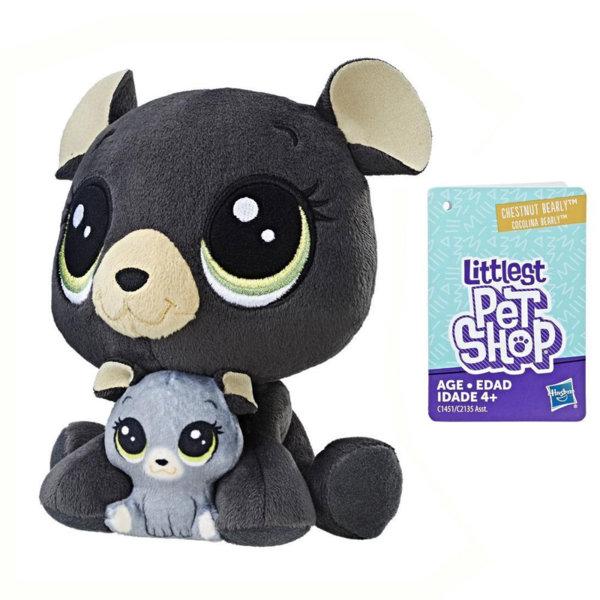 Littlest Pet Shop - Плюшени малки домашни любимци Мече с малко c2135