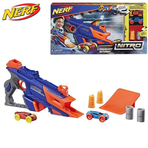 Hasbro Nerf Nitro - Нърф Бластер LongShot Smash изстрелващ нитро колички C0784