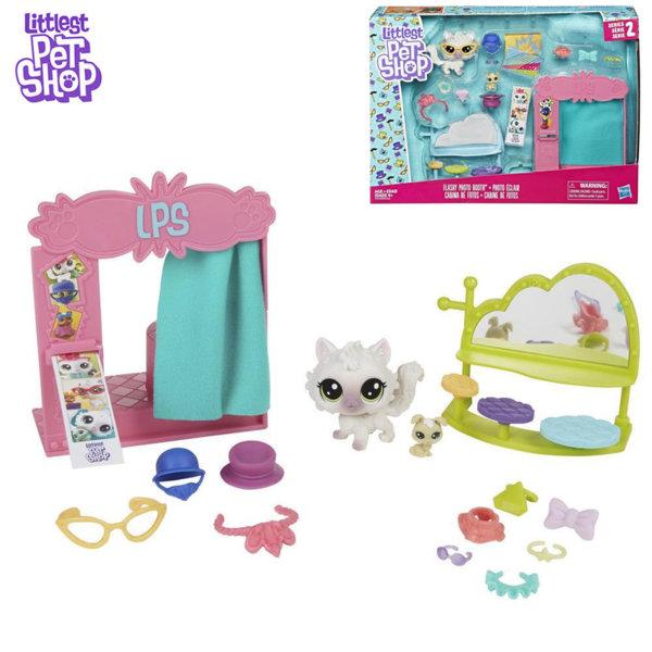 Littlest Pet Shop - Комплект малки домашни любимци Фото студио с аксесоари E0393
