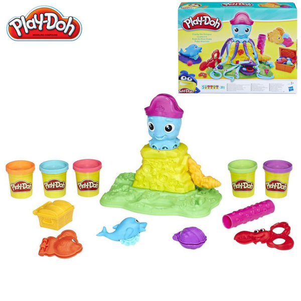 PlayDoh - Комплект пластилин Октоподчето Кранки E0800