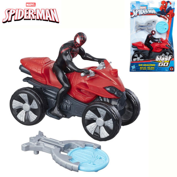 Hasbro - Spider Man Kid Arachnid с ATV и изстрелвачка на дискове Blast 'N Go B9705