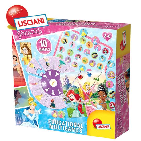 Lisciani Giochi - Колекция 10 игри с Принцесите на Дисни 58860