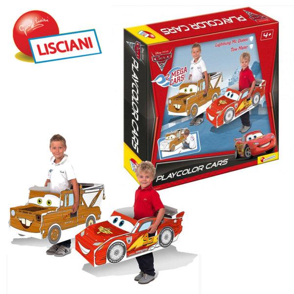 Lisciani Giochi Disney - Комплект картонени коли Cars 35380