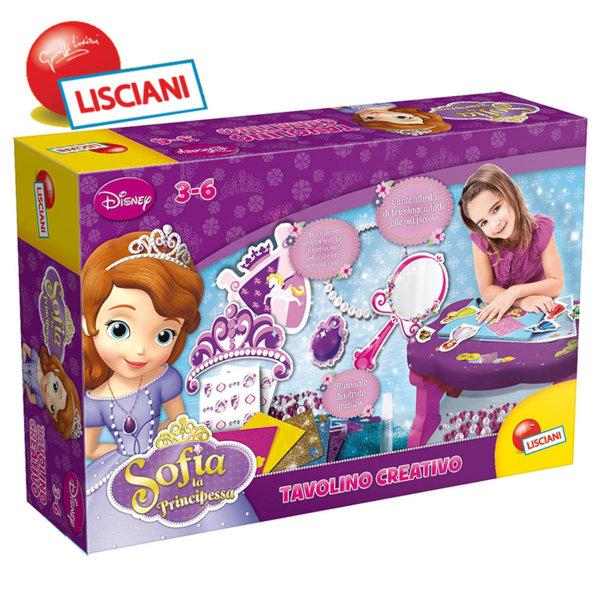 Lisciani Giochi Disney - Масичка с комплект за декорации Принцеса София Първа 45754