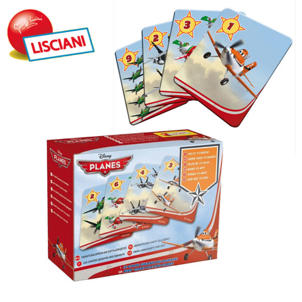 Lisciani Giochi - Карти за игра Disney Самолети 42777