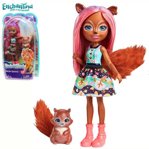 Enchantimals - Кукла Катерица Sancha Squirrel и катеричката Stumper FMT61/FNH22