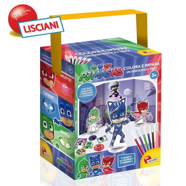 Lisciani Giochi - Комплект за оцветяване PJ Masks 62898
