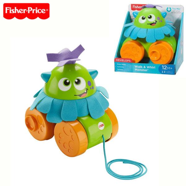 Fisher Price - Играчка за дърпане Весело чудовище FHG01