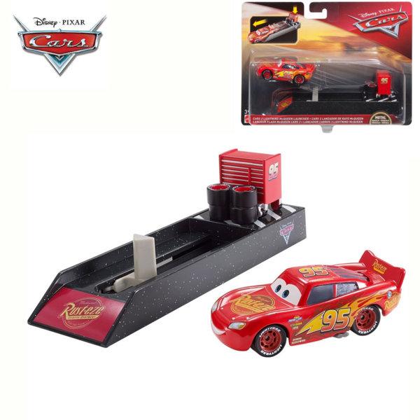 Mattel - Disney Cars Изстрелвачка с количка McQueen Светкавицата FLH75