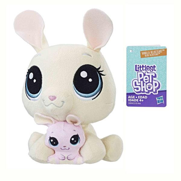 Littlest Pet Shop - Плюшени малки домашни любимци Зайче с малко c2135