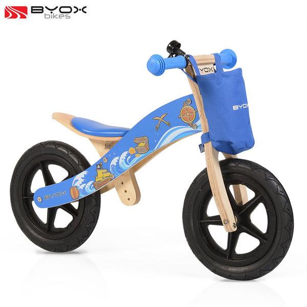 Byox Bikes - Детско дървено балансиращо колело Woody blue 0103/106213
