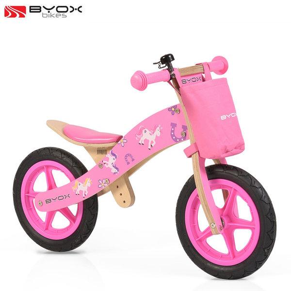Byox Bikes - Детско дървено балансиращо колело Woody pink 0103/106215
