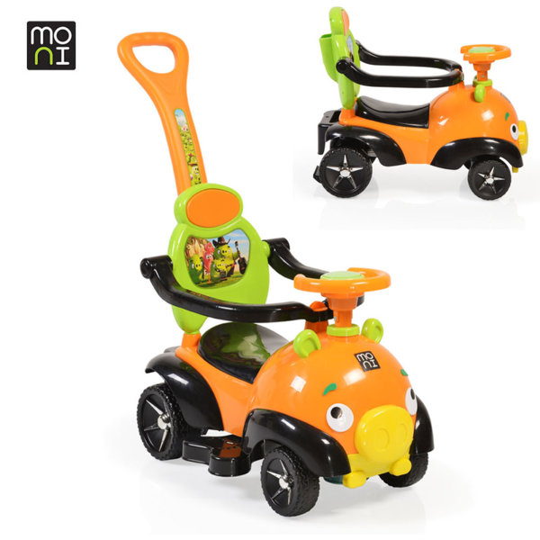 Moni - Детска кола за бутане с родителски контрол The Bomb o8208 оранжева 106107