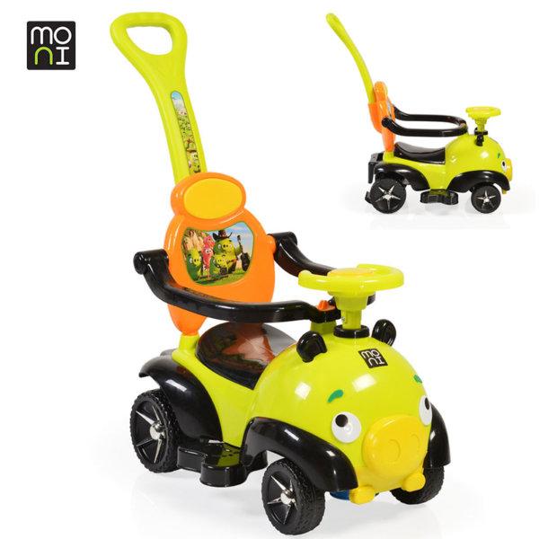 Moni - Детска кола за бутане с родителски контрол The Bomb 8208 зелена 106106