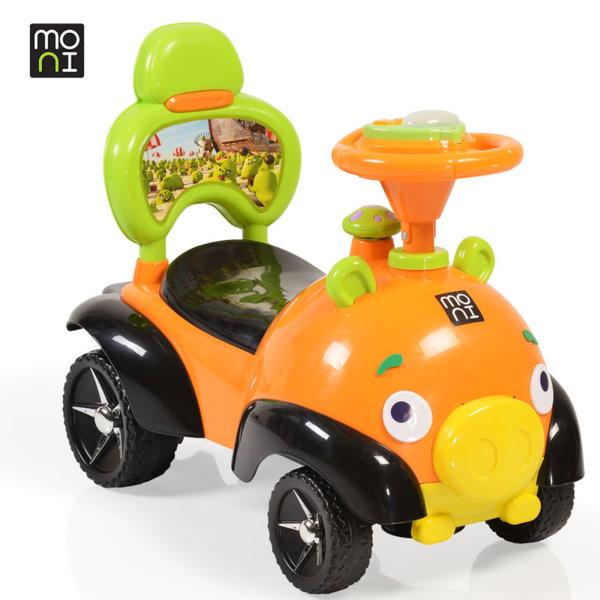 Moni - Детска кола за бутане с крачета Bomb 8208 оранжева 106110