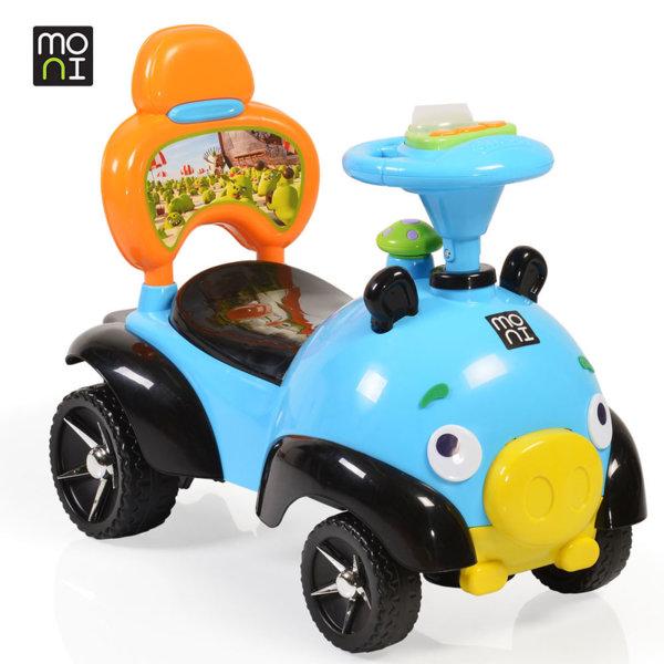 Moni - Детска кола за бутане с крачета Bomb 8208 синя 106111