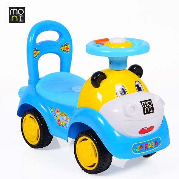 Moni - Детска кола за бутане с крачета Super car blue Z03 103779