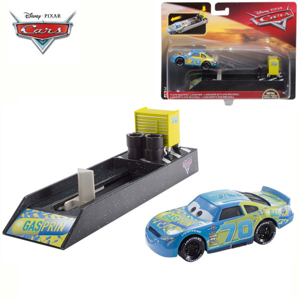 Mattel - Disney Cars Изстрелвачка с количка Floyd Mulvihill FLH75