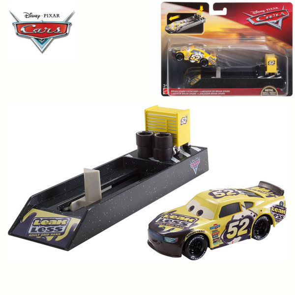 Mattel - Disney Cars Изстрелвачка с количка Brian Spark FLH75