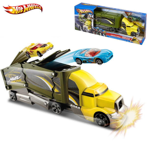 Hot Wheels - Камион с количка Crashing Big Rigs y1868