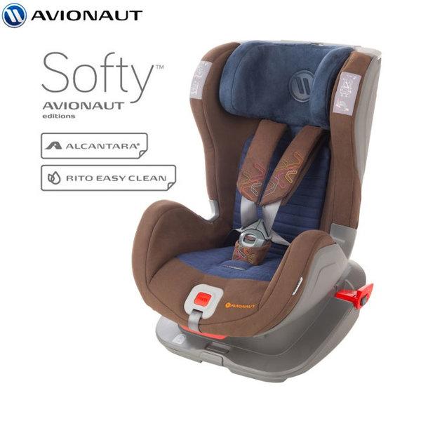Avionaut - Glider Softy IsoFix столче за кола 9-25 кг F.02 кафяво/синьо AGISF02