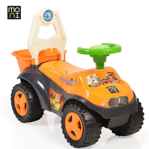 Moni - Детска кола за бутане с крачета Beach car 8206 оранжева 106114