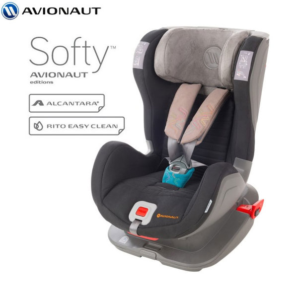 Avionaut - Glider Softy IsoFix столче за кола 9-25 кг F.04 сиво/синьо AGISF04