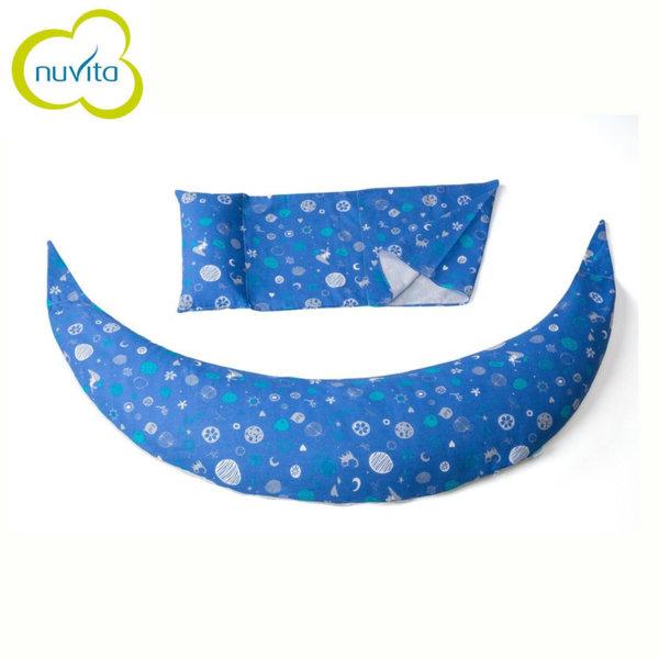 Nuvita - DreamWizard 10в1 възглавница за бременност и кърмене тъмно синя 71007