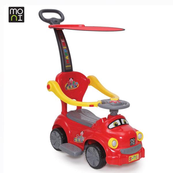 Moni - Детска кола за бутане с родителски контрол Go Z02B червена 103769