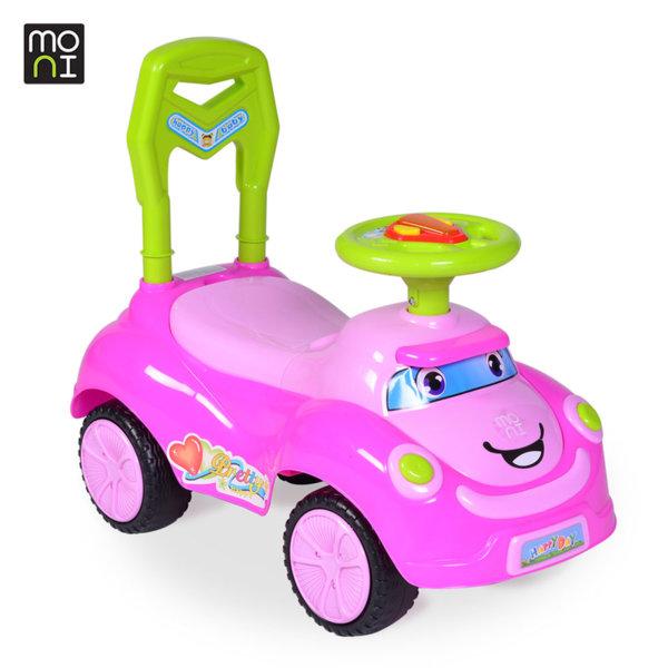 Moni - Детска кола за бутане с крачета Pretty Q06 розова 103732