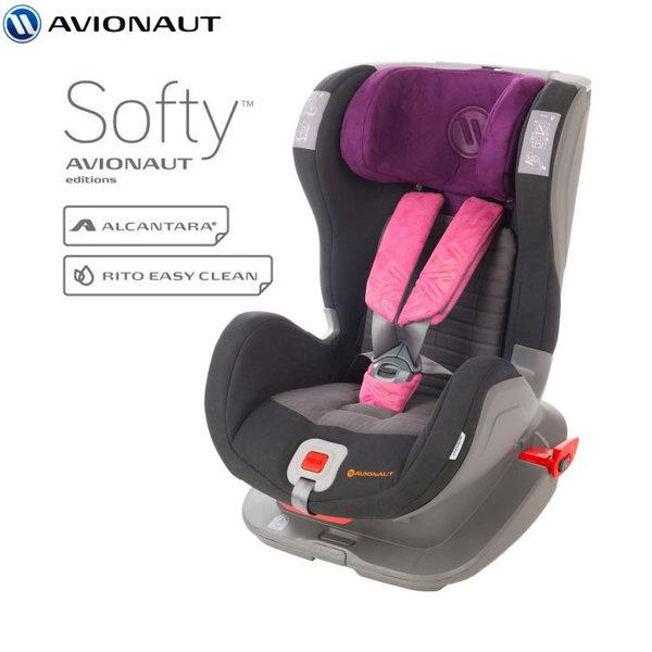 Avionaut - Glider Softy IsoFix столче за кола 9-25 кг F.03 черно/розово AGISF03