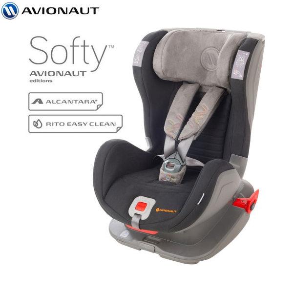 Avionaut - Glider Softy IsoFix столче за кола 9-25 кг F.01 черно/сиво AGISF01