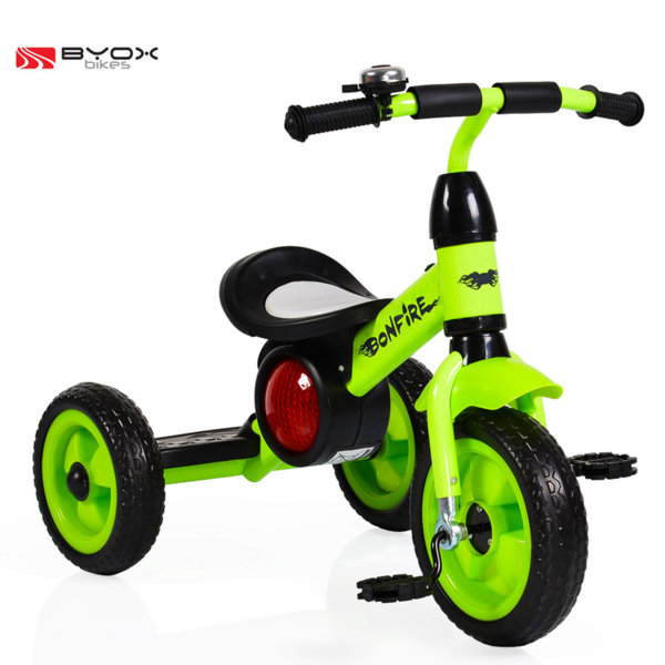 Byox Bikes - Детско колело триколка Bonfire green 104087