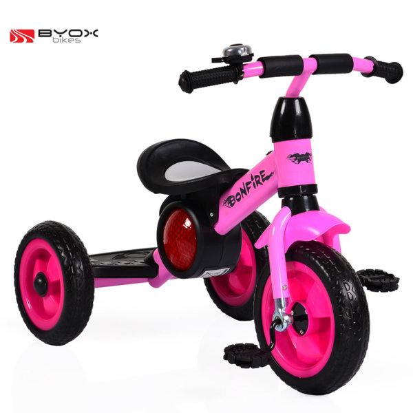 Byox Bikes - Детско колело триколка Bonfire pink 104088