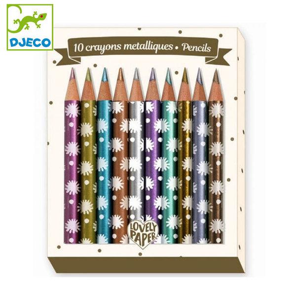 Djeco - Lovely paper Мини цветни моливи Чичи 03730