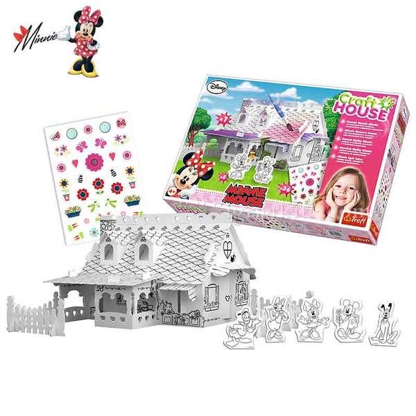 Disney Minnie Mouse - Сглоби и оцвети Къщата на Мини Маус 20096