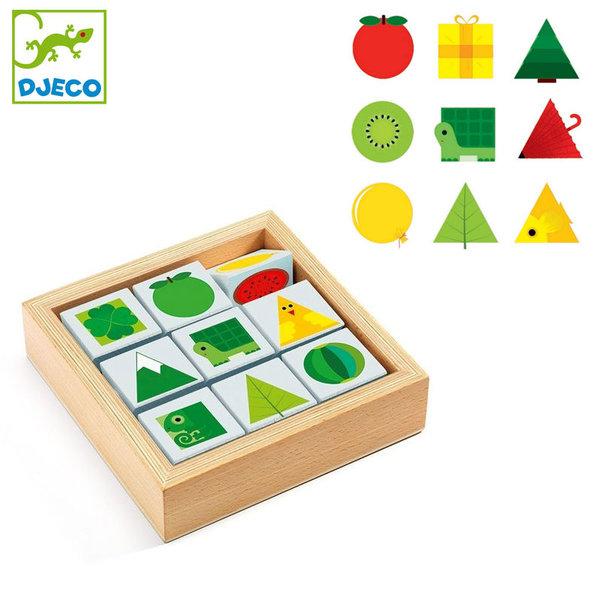 Djeco - Дървени кубчета TriBasic DJ06204