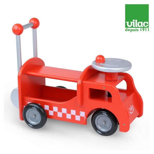 Vilac - Дървен камион за прохождане и яздене 2в1 1013